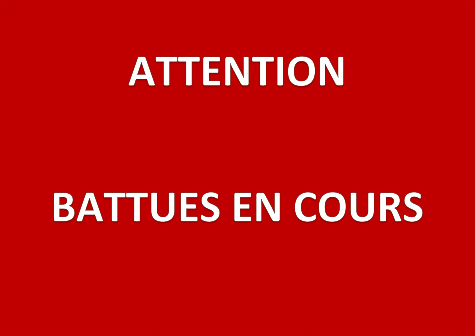 Chasse - Prochaines battues